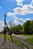 Historical railway  and small auntentik station Twisk in Nederland. Royalty Free Stock Photos