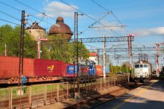 Historical railway station in Korsze, Poland royalty free stock photo