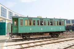 Historical 4-wheel railway carriage Royalty Free Stock Image