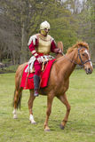 Historical Re-enactment of Roman Cavalry and Infantry soldiers at Northumberland, May 2012. Stock Images