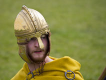 Historical Re-enactment of Roman Cavalry and Infantry soldiers at Northumberland, May 2012. Royalty Free Stock Image