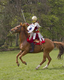 Historical Re-enactment of Roman Cavalry and Infantry soldiers at Northumberland, May 2012. Stock Photos