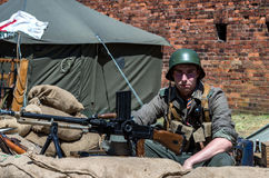Historical re-enactment show - Grenadier 2017 Stock Photography