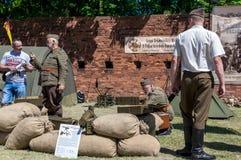 Historical re-enactment show - Grenadier 2017 Stock Photos