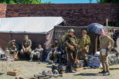 Historical re-enactment show - Grenadier 2017 Royalty Free Stock Photo
