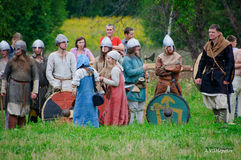 Historical reconstruction Stock Photos