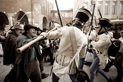Historical reconstruction of Five days of Milan. Royalty Free Stock Photography