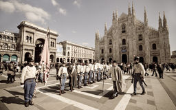 Historical reconstruction of Five days of Milan. Stock Photos
