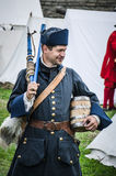 Historical reconstruction in Narva Castle on August 10, 2013, Estonia. Royalty Free Stock Photo