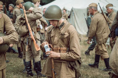 Historical reconstruction second world war. Stock Image