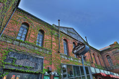 : The historical red-brick warehouses at Hakodate bay area Stock Image