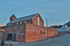 : The historical red-brick warehouses at Hakodate bay area Royalty Free Stock Images