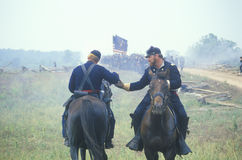 Historical reenactment of the Battle of Manassas, marking the beginning of the Civil War, Virginia Stock Image