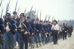 Historical reenactment of the Battle of Manassas, marking the beginning of the Civil War, Virginia Stock Photos