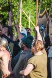 Historical reenactment of Boudica's rebellion Stock Photos