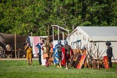 Historical reenactment of Boudica's rebellion Stock Photography