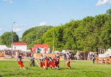 Historical reenactment of Boudica's rebellion Stock Photo