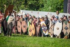 Historical reenactment of Boudica's rebellion Royalty Free Stock Photos