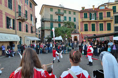 Historical reenactment in celle ligure, italy Royalty Free Stock Photos