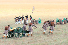 Historical reenactment of the Crimean War Stock Images