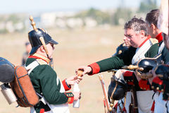 Historical reenactment of the Crimean War Stock Photography