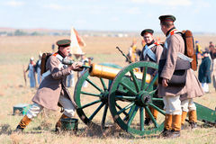 Historical reenactment of the Crimean War Royalty Free Stock Photo
