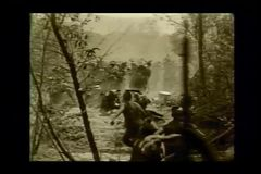 Historical reenactment of the  French and Indian War stock footage