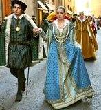 Historical reenactment in Italy Stock Photos