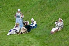 Historical reenactment Stock Image