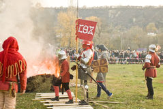 Historical reenactment in Varna Royalty Free Stock Photos
