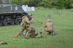 Historical reenactment of WWII Stock Images
