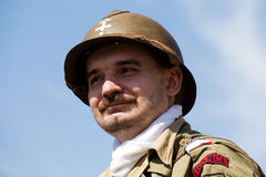 Historical reenactment of WWII in Kiev, Ukraine Royalty Free Stock Photos