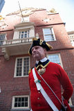 Historical reenactor-docent Stock Photo