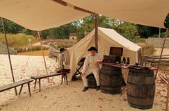 Historical Reenactor at Yorktown Royalty Free Stock Image