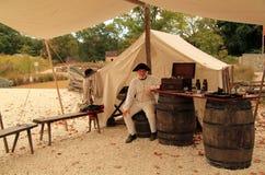 Historical Reenactor at Yorktown Royalty Free Stock Images