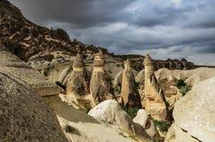 Cappadocia landscape in Central Anatolia, Turkey. A historical region Cappadocia in Central Anatolia, Turkey Royalty Free Stock Photo