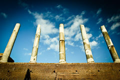 Historical relics in Rome. Roman relics in the afternoon sun Stock Image