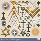 Historical and religious symbols Royalty Free Stock Photo