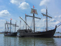 Historical Reproduction Columbus Sailing Ships 3 Royalty Free Stock Image