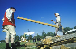 Historical Revolutionary War reenactment, Stock Image
