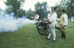 Historical Revolutionary war reenactment, Royalty Free Stock Image