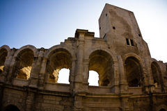 Historical Roman Arena in Arles Royalty Free Stock Images