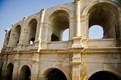 Historical Roman Arena in Arles Stock Photos