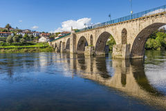 Historical roman bridge in Ponte da Barca. Portugal stock images