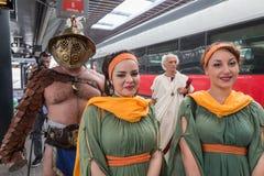 Historical Roman Group at Expo 2015 in Milan, Italy Stock Photos