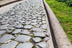 Historical Roman road - Imperial forums - Rome. (Italy Stock Image
