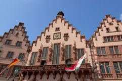 Historical Romer Square in Frankfurt Main city Stock Image