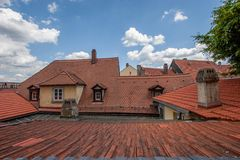 Historical roof Stock Image