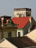Historical Roof Tops. Roof tops of a historical ancient town in the Czech Republic Royalty Free Stock Image