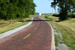 Historical route 66. Original brick section of Route 66 Illinois USA royalty free stock image